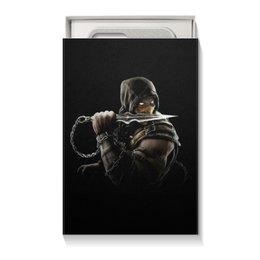 """Коробка для чехлов """"Mortal Kombat (Scorpion)"""" - воин, боец, скорпион, mortal kombat, scorpion"""