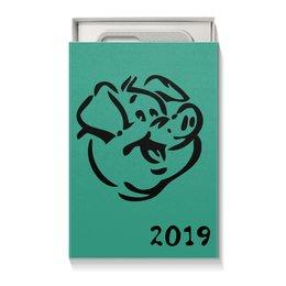 """Коробка для чехлов """"год Свиньи 2019"""" - новый год, свинья, pig, год свиньи"""