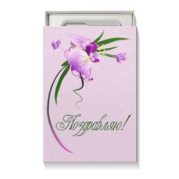 """Коробка для чехлов """"Орхидея"""" - цветы, 8 марта, подарок, орхидея, день влюбленных"""