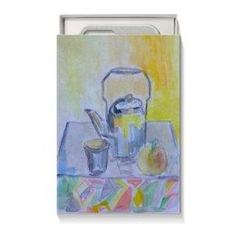 "Коробка для чехлов ""На кухне"" - стакан, чай, яблоко, чайник, на кухне"