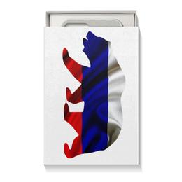 "Коробка для чехлов ""Русский Медведь"" - bear, медведь, русский, флаг, russian"