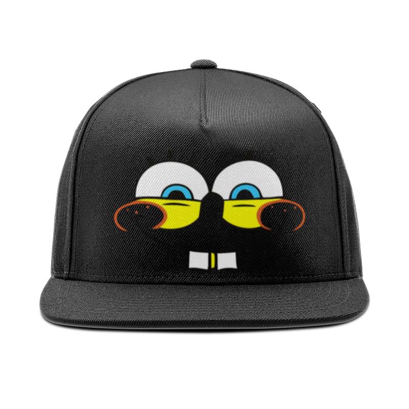 Кепка снепбек с прямым козырьком Printio Губка бейсболка с прямым козырьком osiris snap back hat standard charcoal white