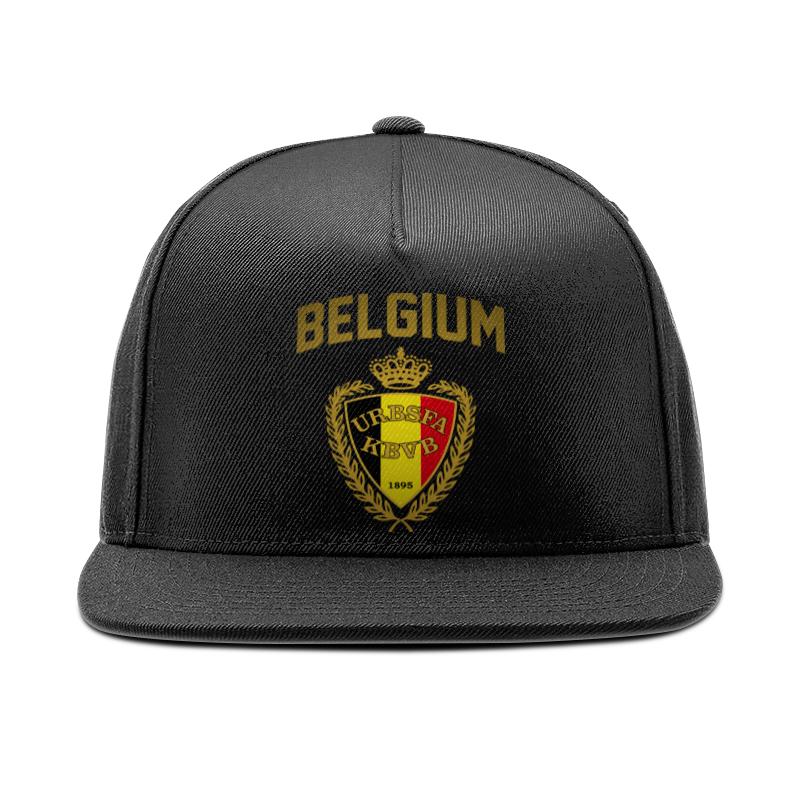 Кепка снепбек с прямым козырьком Printio Сборная бельгии