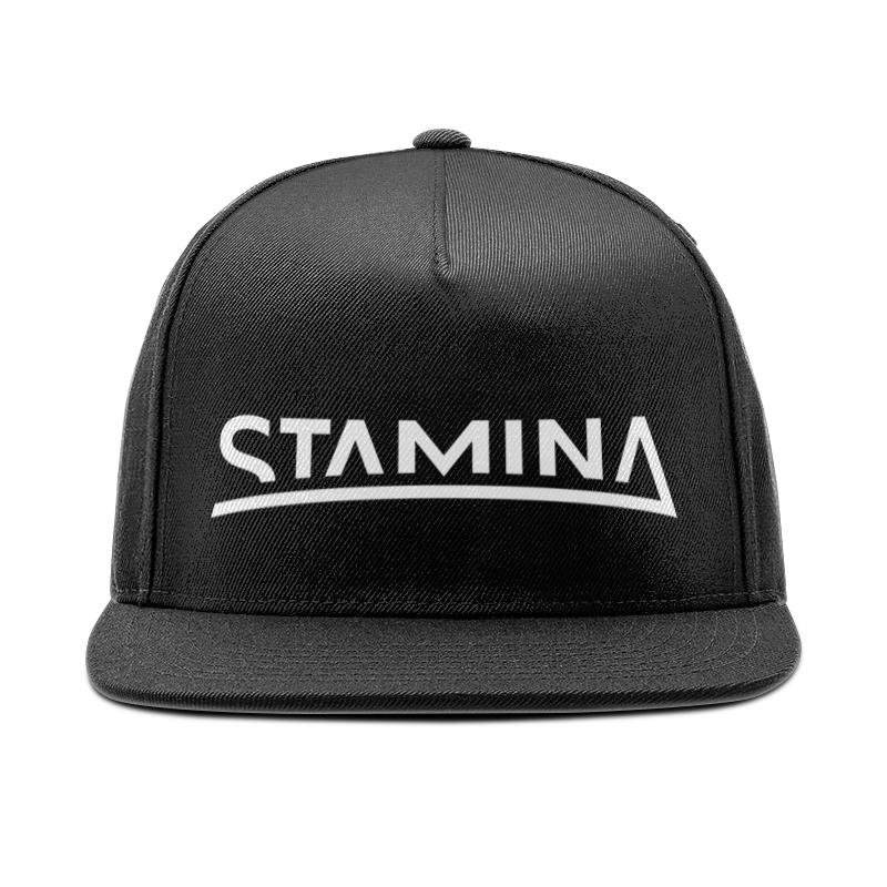 Кепка снепбек с прямым козырьком Printio Stamina black cap fashionable taurus logo and ox shape embroidery black baseball cap for men
