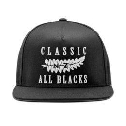 """Кепка снепбек с прямым козырьком """"All Blacks vintage classic"""" - спорт, регби, олл блэкс, новая зеландия, новая зеландия регби"""