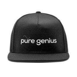 """Кепка снепбек с прямым козырьком """"Genius"""" - круто, гений, genius, гениально"""