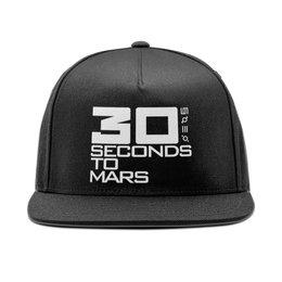 "Кепка снепбек с прямым козырьком ""30 seconds to mars"" - музыка, 30 seconds to mars, джаред лето, 30 секунд"