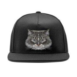 """Кепка снепбек с прямым козырьком """"Котик"""" - кот, животное"""