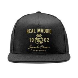 """Кепка снепбек с прямым козырьком """"Реал Мадрид"""" - футбол, real madrid, реал мадрид, футбольный клуб, реал"""