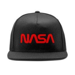 """Кепка снепбек с прямым козырьком """"NASA """" - космос, бренд, nasa, cosmos, астрономия"""