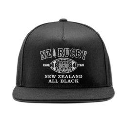 """Кепка снепбек с прямым козырьком """"Rugby NZ """" - спорт, регби, олл блэкс, новая зеландия"""