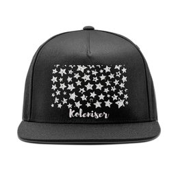 """Кепка снепбек с прямым козырьком """"Stars"""" - рисунок, print, texture, koleda17, кепкаспринтом"""