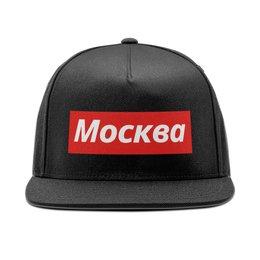 """Кепка снепбек с прямым козырьком """"Москва"""" - люблюмоскву"""