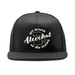 """Кепка снепбек с прямым козырьком """"Black Alcochat cap"""" - alcochat"""
