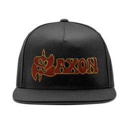 "Кепка снепбек с прямым козырьком ""Saxon Band"" - heavy metal, рок музыка, рок группа, saxon, саксон"