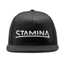 """Кепка снепбек с прямым козырьком """"Stamina black cap"""" - плавание, swim, staminaswim, школаплавания, stamina"""