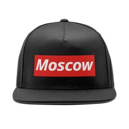 """Кепка снепбек с прямым козырьком """"Moscow"""" - люблюмоскву"""