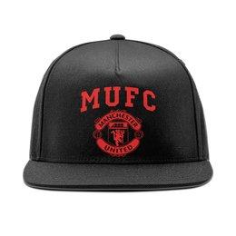 """Кепка снепбек с прямым козырьком """"Манчестер Юнайтед """" - манчестер юнайтед, manchester united, футбольный клуб, красные дьяволы, мю"""