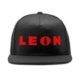 """Кепка снепбек с прямым козырьком """"Leon the professional"""" - кино, leon, леон, жан рено, jean reno"""
