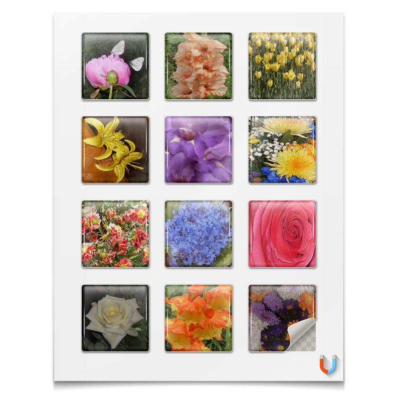 Магниты квадратные 5x5см Printio Цветочный рай. рай надежда