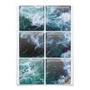 """Магниты квадратные 9.5x9.5см """"Бескрайнее море"""" - море, спокойствие, бескрайний океан, глубоко, sailboat"""