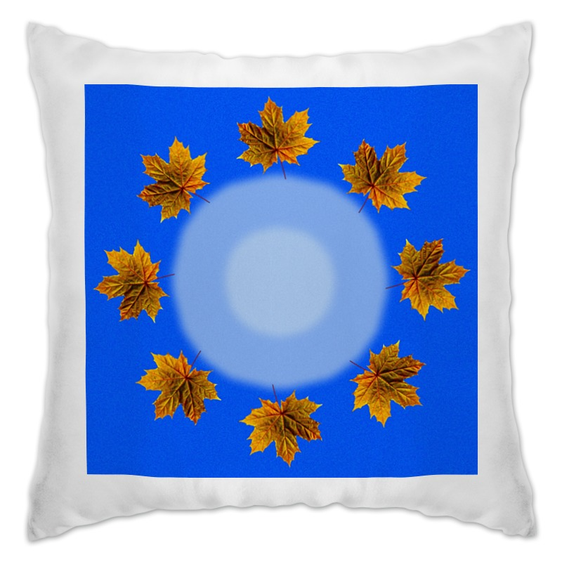 Подушка Printio Кленовые листья набор для творчества tukzar декоративные элементы кленовые листья eva пакет 18 5 12см 8шт 4 цве