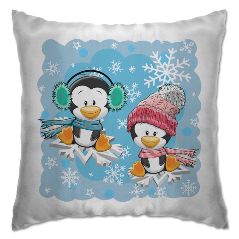 Подушка Printio Пингвин зимой костюм зимний лесси с пингвинами