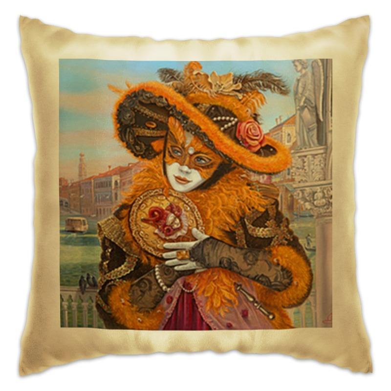 Подушка Printio Венеция кукла на руку жирафики лягушонок 25 см 939438