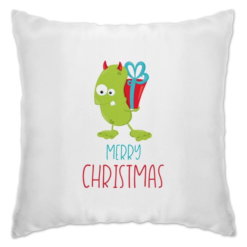 Подушка Printio Christmas snowman cartoon christmas cushion throw pillow case