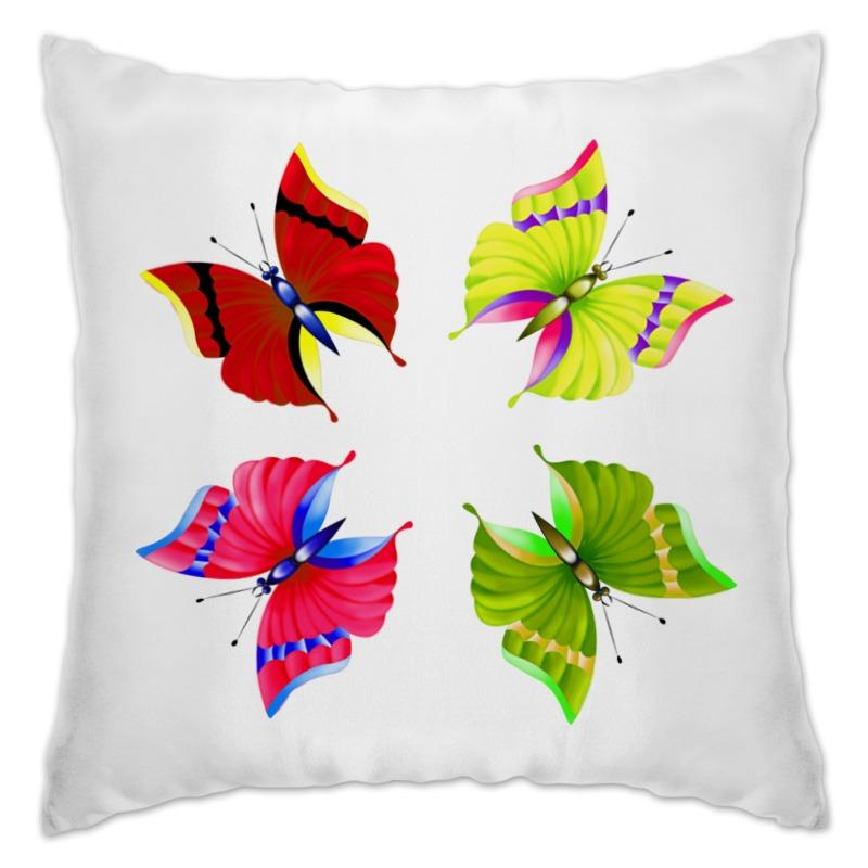 Подушка Printio Бабочки frescadesign подушка фиалковые бабочки