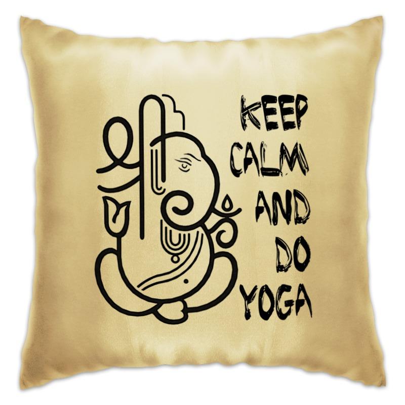 Подушка Printio Йога / keep calm футболка wearcraft premium printio keep calm