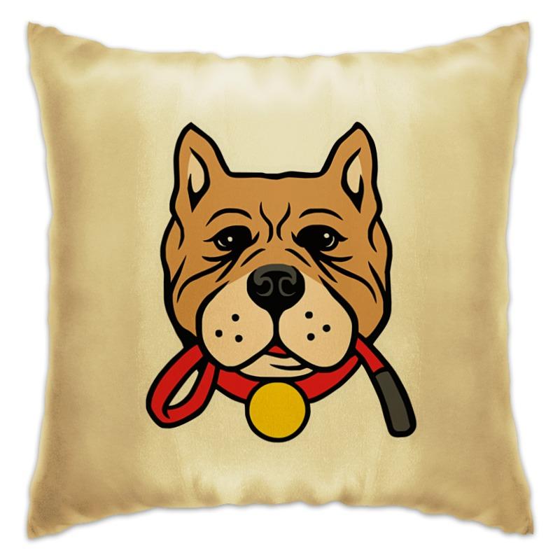 Подушка Printio Умный пёс умный сад в подробностях