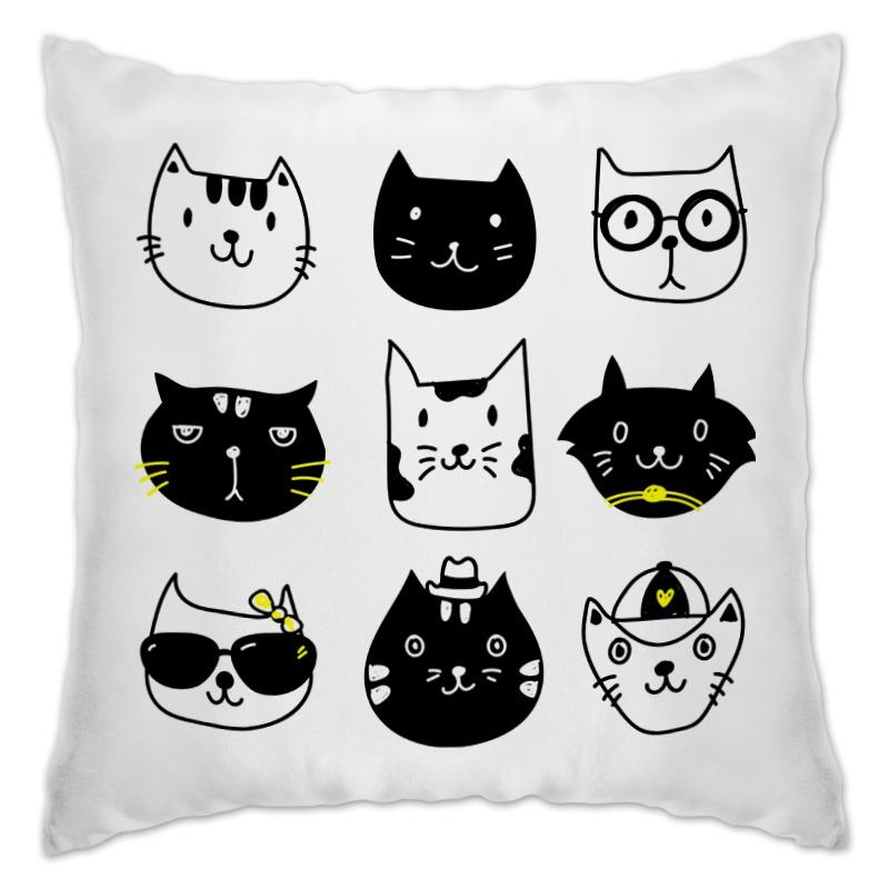 Подушка Printio Милые котики кружка цветная внутри printio милые котики