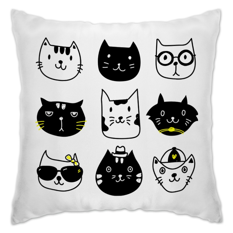 Подушка Printio Милые котики
