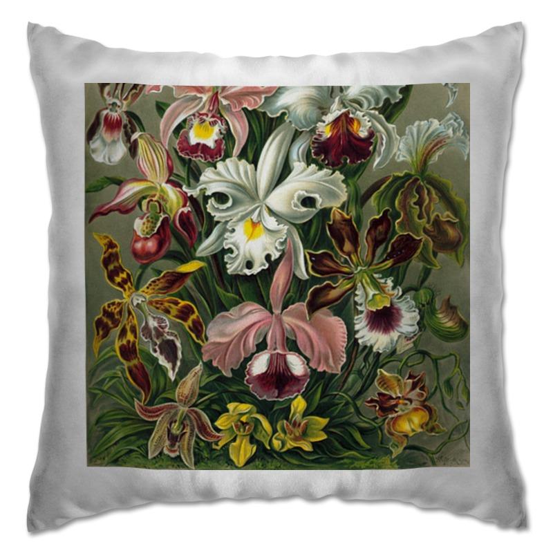 Подушка Printio Орхидеи (orchideae, ernst haeckel)