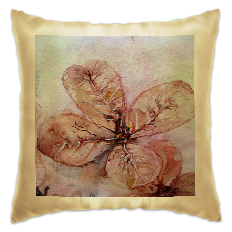 Подушка Printio Прозрачный осенний цветок цена
