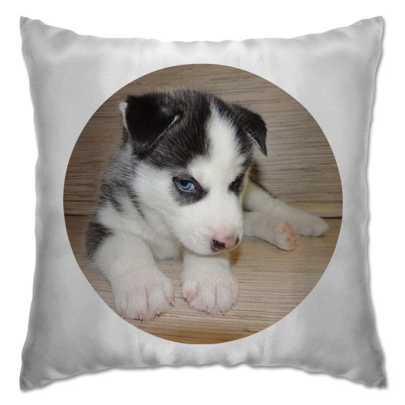 Подушка Printio Сибирский хаски мягкие игрушки hansa собака породы сибирский хаски 40 см