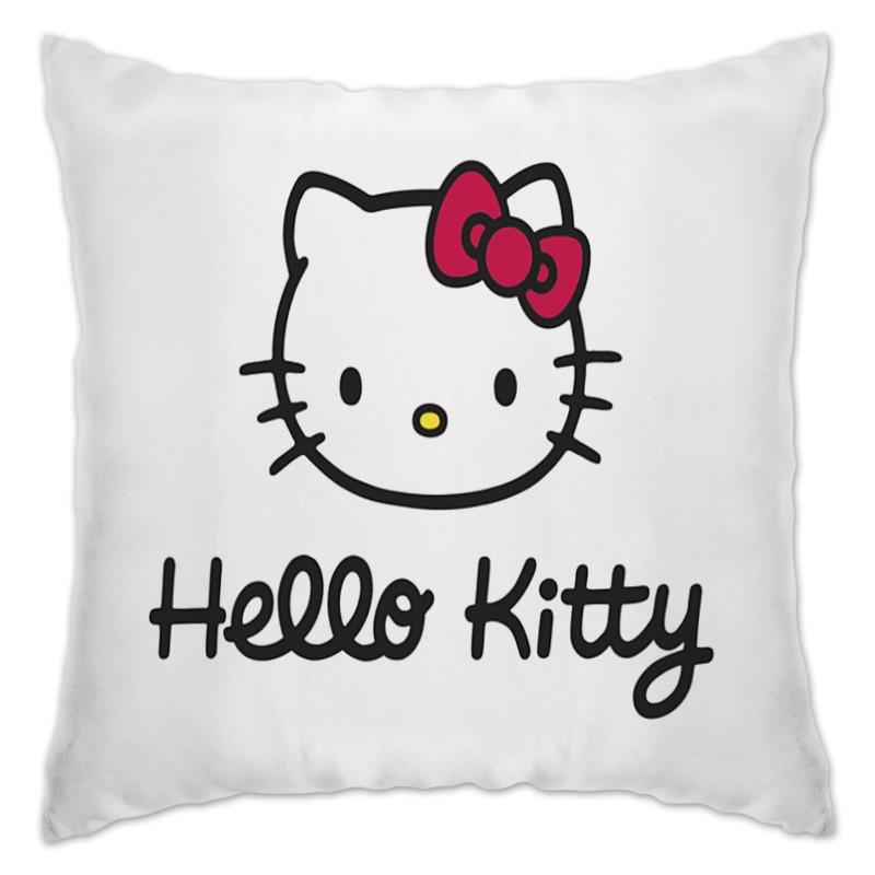 Подушка Printio hello kitty! cxzyking 20cm sweet new kt cat hello kitty plush toys cute hug mushroom hello kitty kt cat pillow dolls for kids baby girl gift