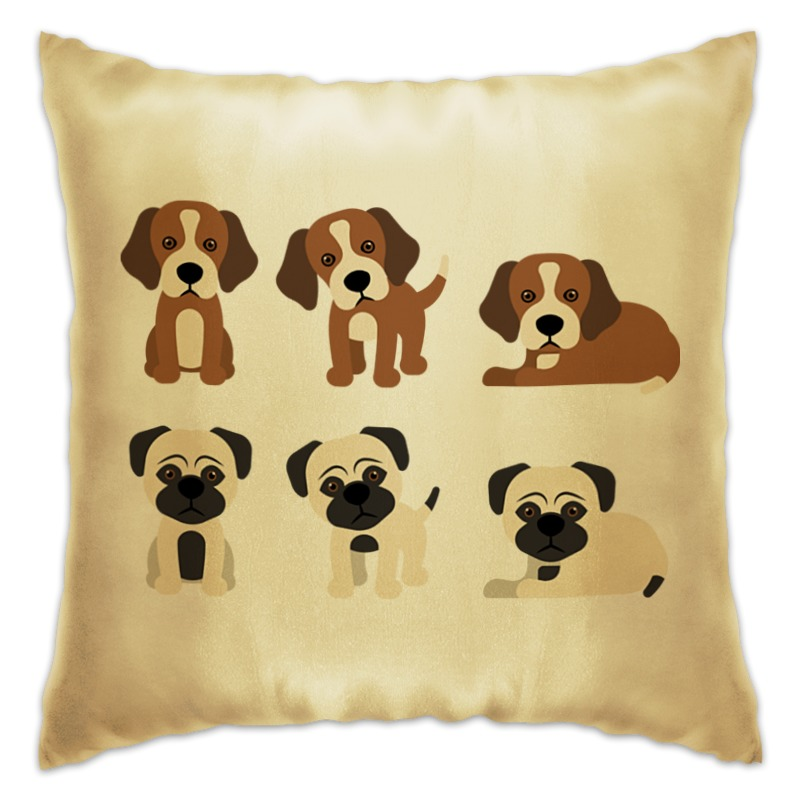 Подушка Printio Милые щенки