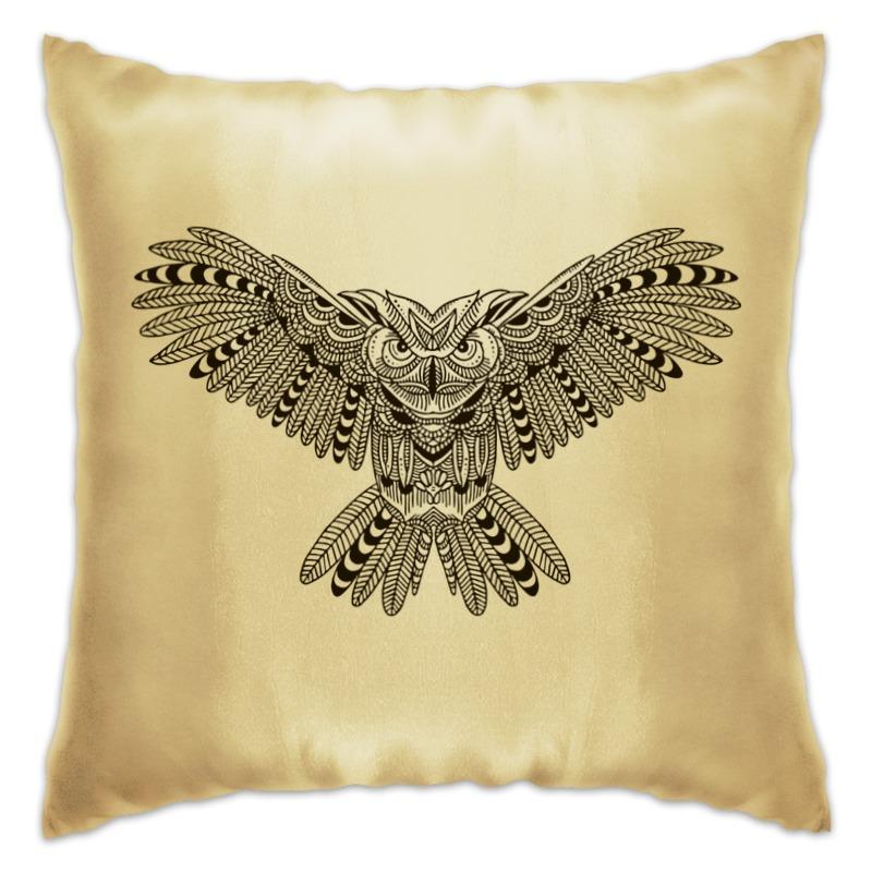 Подушка Printio Этническая сова