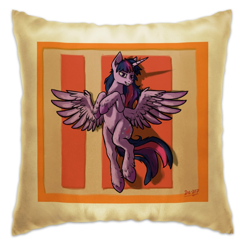 Подушка Printio Twilight pillow fashion cartoon elephant pattern flax pillow case(without pillow inner)