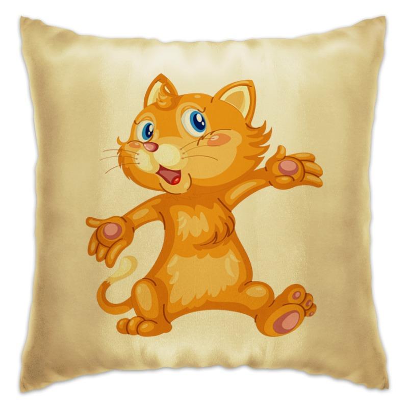 Подушка Printio Рыжий кот декоративные подушки оранжевый кот подушка интерьерная упаковка