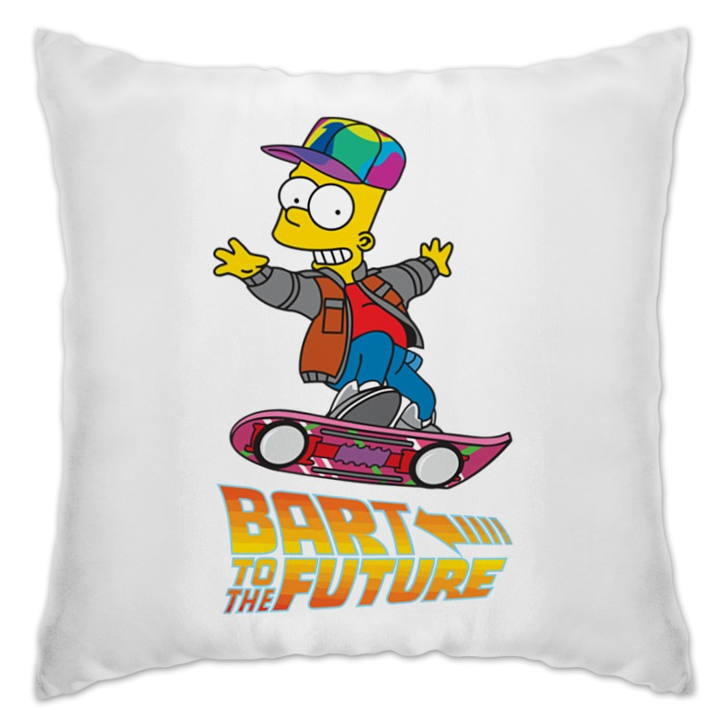 Подушка Printio Bart to the future alex lightman the future engine