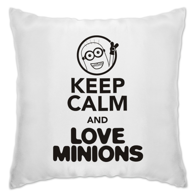 Printio Keep calm & love minions подушка printio keep calm