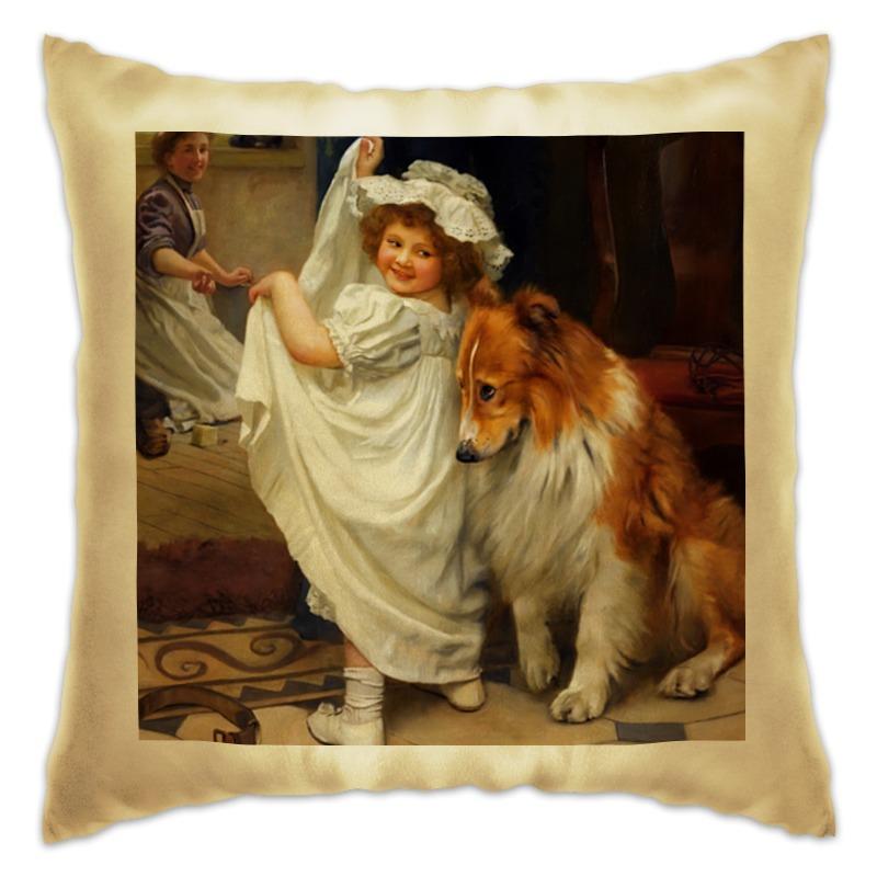 Подушка Printio Картина артура элсли (1860-1952) картины magic home картина репродукция дворик