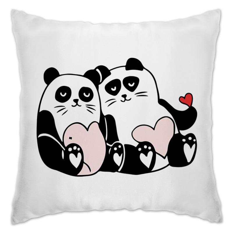 Подушка Printio Влюблённые панды фартук printio влюблённые медвежата