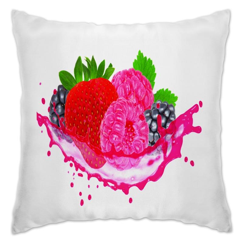 Подушка Printio Ягодки бусы из хрусталя ягодки