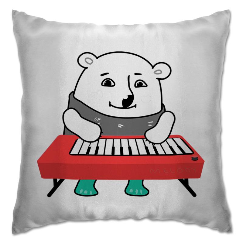 Подушка Printio Медвежонок арктика