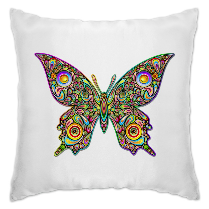 Подушка Printio Яркая бабочка jd коллекция бабочка 6 12 месяцев красный дефолт
