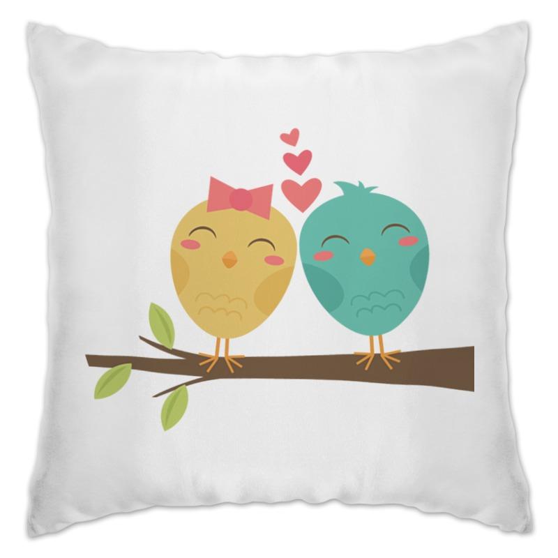 Подушка Printio Птички silverlit две птички с деревом зелено голубые digibirds